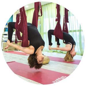 Йога в гамаках в Перми